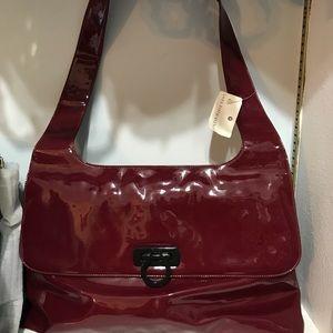 Salvatore Ferragamo Red Patent shoulder bag
